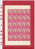 BELGIQUE - 1/2 FEUILLE  -  1961 - NEUF - Hojas Completas