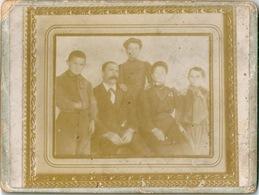 Photo Originale Photo De Famille Sur Carton Glacé - Fotos