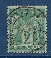 "FR YT 74 "" Sage 2c. Vert Type II "" 1876 Cachet à Date Paris - 1876-1898 Sage (Type II)"