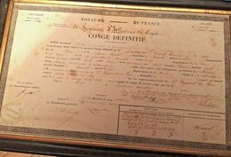 CREUSE 1839  CONGÉ DÉFINITIF DU SIEUR AUTIXIER DE BONNAT  CREUSE - Documenten