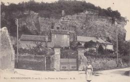 37 ROCHECORBON.  CPA .LA POINTE DE  VAUVERT. ANIMATION ET MAISON A VENDRE.  TEXTE ANNEE 1917 - Rochecorbon