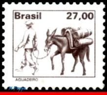 Ref. BR-1657 BRAZIL 1979 JOBS, NATIONAL PROFESSIONS,, WATER SELLER WITH MULE, MNH 1V Sc# 1657 - Dienstpost