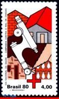 Ref. BR-1708 BRAZIL 1980 HEALTH, RED CROSS, CHAGAS DISEASE, , MICROSCOPE, INSECTS, MI# 1782, MNH 1V Sc# 1708 - Malattie