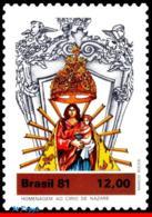 Ref. BR-1764 BRAZIL 1981 RELIGION, VIRGIN OF NAZARETH,, STATUE, SCULPTURE, MI# 1850, MNH 1V Sc# 1764 - Brazilië