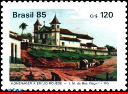 Ref. BR-1970 BRAZIL 1985 CHURCHES, EMILIO ROUEDE, PAINTER,, PAINTING, FAMOUS PEOPLE, MNH 1V Sc# 1970 - Brazilië