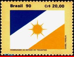 Ref. BR-2249 BRAZIL 1990 FLAGS, TOCANTINS, STATE FLAGS,, MI# 2362, MNH 1V Sc# 2249 - Brazilië