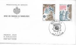 1982 Monaco Mi. 1526-7 FDC Europa: Historische Ereignisse. - Europa-CEPT