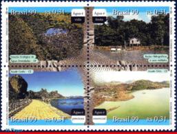 Ref. BR-2724 BRAZIL 1999 NATURE, WATER RESOURCES,, MI# 2972-75, SET MNH 4V Sc# 2724 - Ungebraucht