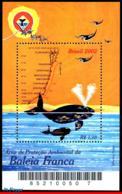 Ref. BR-2855 BRAZIL 2002 SEA MAMMALS, WHALE, AREA PROTECTION,, BIRDS, MAPS, MI# B121, S/S MNH 1V Sc# 2855 - Brasilien