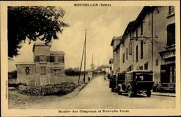 Cp Roussillon Isère, Montée Des Chapeaux Et Nouvelle Post, Straßenpartie, Autos - Autres Communes