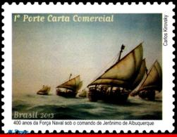 Ref. BR-3248 BRAZIL 2013 SHIPS, BOATS, NAVAL FORCE OF JERONIMO, DE ALBUQUERQUE, PAINTING, MNH 1V Sc# 3248 - Bateaux