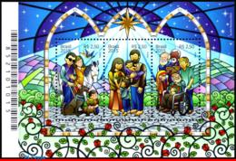 Ref. BR-3312 BRAZIL 2015 CHRISTMAS, RELIGION, SOUVENIR SHEET, MNH 3V Sc# 3312 - Ungebraucht