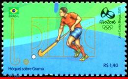 Ref. BR-3318H BRAZIL 2015 SPORTS, OLYMPIC GAMES, RIO 2016,, HOCKEY, STAMP OF 4TH SHEET, MNH 1V Sc# 3318H - Sommer 2016: Rio De Janeiro