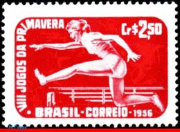 Ref. BR-840 BRAZIL 1956 SPORTS, 8TH SPRING GAMES,, HURDLER, MI# 898, MNH 1V Sc# 840 - Ungebraucht