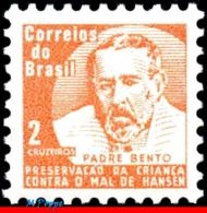 Ref. BR-RA13 BRAZIL 1966 HEALTH, HANSEN DISEASE, LEPROSY,, FATHER BENTO DIAS PACHECO, MI# Z14, MNH 1V Sc# RA13 - Brasilien