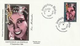 """FDC """"Joséphine Baker"""", Du 17-09-1994 (Castelnaud La Chapelle 24 - Dordogne) - FDC"""