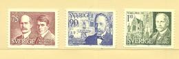 Sweden 1975 Nobel Laureates Of 1915.  William H. Brag, Richard Willstätter,  Romain Rolland Mi 932-934, MNH(**) - Sweden