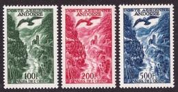 Andorra Francese, Serie Posta Aerea Del 1955 Nuova *    -CK73 - Französisch Andorra