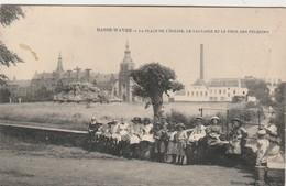 Basse - Wavre  , La Place De L'Eglise, Le Calvaire Et Le Tour Des Pélerins - Wavre