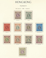 Hong Kong Eduardo VII 1903 / Serie Corta Hasta El 1 $ / 11 Sellos / Valor Catal - Hong Kong (...-1997)