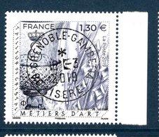 France 2019.Métiers D'Art .Tailleur De Cristal.Cachet Rond Gomme D'Origine - Frankreich
