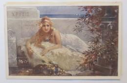 Künstlerkarte, Frauen, Mode, Fell, Schildkröte, Geckos, Schmuck,1920 ♥ (62149) - Künstlerkarten