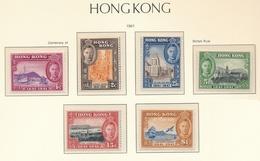 Hong Kong 100 Aniv. Cesion A Gran Bretaña 1941 (6 Sellos) **/MNH 161/66 - Hong Kong (...-1997)