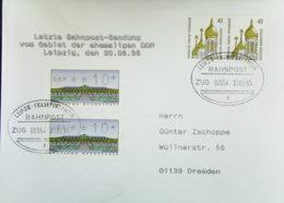BRD: Bahnpost LEIPZIG - FRANKFURT (MAIN) ZUG 00554 Letzte Beförderung Vom Gebiet Der Ehem. DDR Vom 31.6.95 - [7] République Fédérale