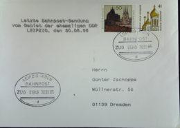 BRD: Bahnpost LEIPZIG - KÖLN ZUG 01949 Letzte Beförderung Mit Bahnpost Vom Gebiet Der Ehem. DDR Vom 30.6.95 - [7] République Fédérale