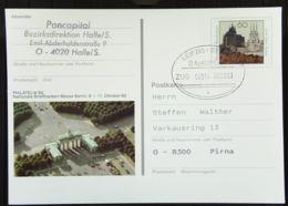 BRD: Bahnpost Leipzig - Berlin ZUG 02016 -c-  Bildpost-GA PSo 28 Brandenburger Tor Berlin Vom 28.3.93 - [7] Federal Republic