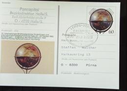 "BRD: Bahnpost Leipzig - Berlin ZUG  39168 -c-  Bildpost-GA PSo 29 ""Erdglobus"" Vom 29.3.93 - [7] Federal Republic"