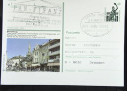 "BRD: Bahnpost Leipzig - Berlin ZUG  02016 -c-  Bildpost-GA ""Münchberg Frankenwald"" Vom 28.3.93 - [7] Federal Republic"