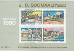 RICCIONE 1980 - J.D.SOOMAALIYA -FOGLIETTO I.P.Z.S. - RR - Esposizioni Filateliche