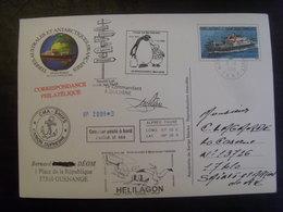 18200- TAAF Entier Carte Postale Traversée Brest-La Réunion-Crozet, Oblitérée - PAP: Sonstige (1995-...)