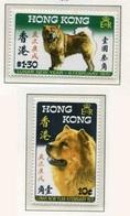 Hong Kong Año Lunar Pêrro 1970 (2 Sellos) **/MNH 244/45 - Nuevos