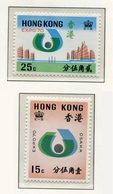 Hong Kong Expo Osaka 1970 (2 Sellos) **/MNH 246/47 - Neufs