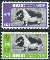 Hong Kong Año Lunar Cerdo 1971 (2 Sellos) **/MNH 251/52 - Nuevos