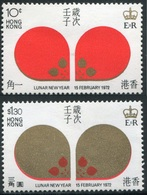 Hong Kong Año Lunar Rata 1972 (2 Sellos) **/MNH 259/60 - Nuevos