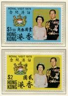 Hong Kong Visita Real 1975 (2 Sellos) **/MNH 295/96 - Neufs