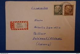 152 ALLEMAGNE LETTRE 1958 DE GRANAU A DELEMONT SUISSE EN RECOMMANDé AFFRANCHISSEMENT PLAISANT - [5] Berlin