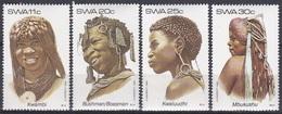 Südwestafrika SWA Namibia 1984 Gesellschaft Society Brauchtum Folklore Frauen Women Frisuren Hairstyle, Mi. 554-7 ** - África Del Sudoeste (1923-1990)
