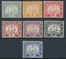 Hong Kong Bonita Serie 1938-47, Filigrana Couché (7 Valores) Tasas **/MNH 6/12 - Hong Kong (...-1997)