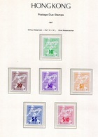 Hong Kong Bonita Serie 1987 (6 Valores) Tasas **/MNH 24/29 - Hong Kong (...-1997)