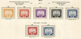 Hong Kong Bonita Serie 1965-69  (7 Valores) Inclidas Variantes Tasas **/MNH 13/ - Hong Kong (...-1997)