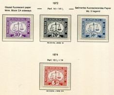 Hong Kong Bonita Serie 1972-74 (4 Valores) Tasas **/MNH 17A/D - Hong Kong (...-1997)