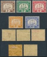 Hong Kong Bonita Serie 1924, Filigrana (5 Valores) Tasas */NH 1/5 - Hong Kong (...-1997)