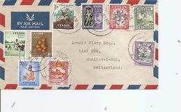Ceylan ( Lettre Par Avion De 1955 De Colombo Vers La Suisse à Voir) - Ceylon (...-1947)
