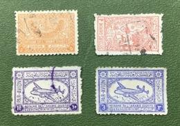 ARABIA SAUDITA 4 Francobolli Usati 1934 - 1949 - Arabia Saudita