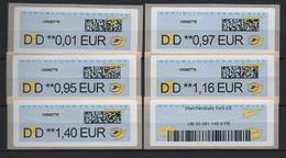 """6 ATMs, INTERMEC PC 43 D. TARIFS 2020 TAPES AU CLAVIER AVEC PREFIXE """"DD"""" IMPRIMANTE DES Agences Postales Communales - 2010-... Vignette Illustrate"""