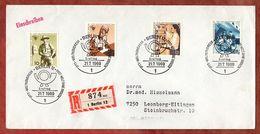 Neos-Donner-FDC, Einschreiben Reco, IPTT-Weltkonfress, Berlin Nach Leonberg 1969 (89820) - [5] Berlín